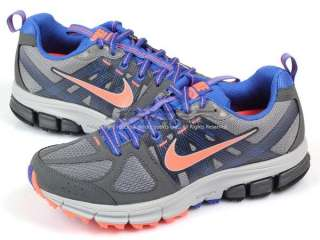 nike wmns air pegasus+ 28 trail cl gry brght mng drk gry mg bl 100 %