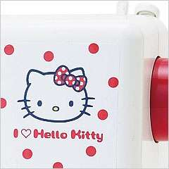 JANOME Hello Kitty Sewing Machine RED Polka dot   Sanrio Japan LIMIT
