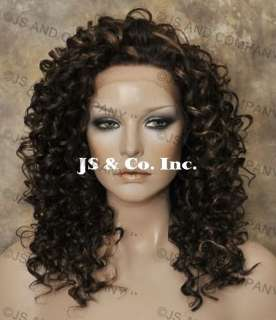 Lace Front WIG Long Curly Wavy Beautiful Brown mix