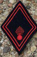 French Army COLLAR INSIGNIA RED BLACK PATCH PAIR P2508