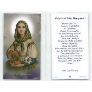 /St. Dymphna Laminated Holy Prayer Card Patron of Emotional Problems