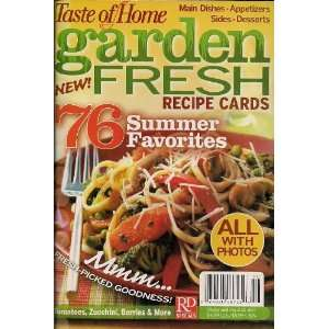 Taste of Home   Garden Fresh Recipe Cards (76 Summer