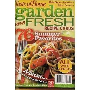 Taste of Home   Garden Fresh Recipe Cards (76 Summer