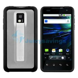 Black Softgrip TPU Gel Skin Case+Privacy LCD Guard+Charger+Cable For