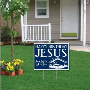 Jesus (blue) Christmas Lawn Display   Yard Sign Decoration Home