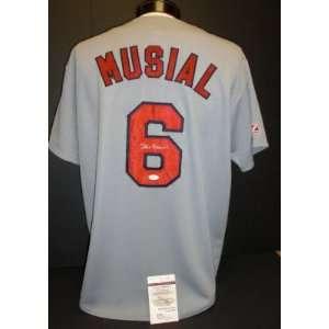 Stan Musial St. Louis Cardinals Autographed Grey Away