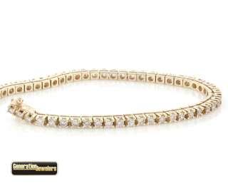 Gorgeous 14K Gold Diamond Tennis Bracelet Excellent