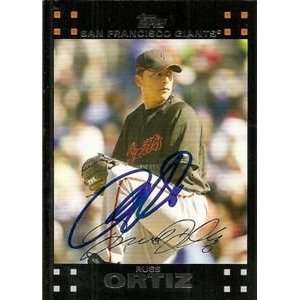 Russ Ortiz Signed San Francisco Giants 2007 Topps Card