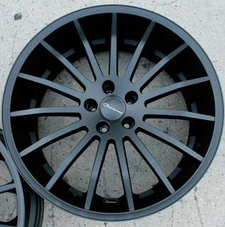 GIOVANNA MARTUNI 22 BLACK F RIMS WHEELS 350Z STAG
