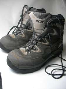 MENS SALOMON GORE TEX HIKING TRAIL BOOTS SHOES SIZE 10 US / 9.5 UK