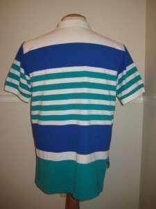 Vintage IZOD LACOSTE Stripe Polo Shirt Mens XL