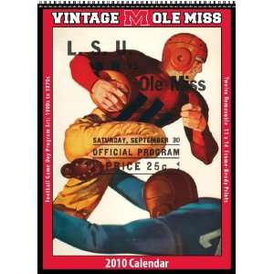 Vintage Ole Miss Rebels 2010 Football Program Calendar