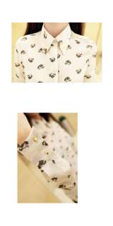 New Arrival 2012 Fashion Animals Print LEOPARD HEAD Tops Blouses Shirt