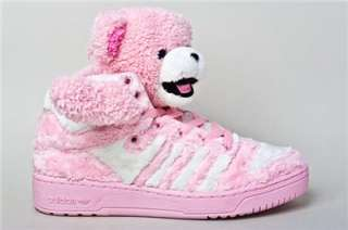 Brand New Adidas Jeremy Scott JS Pink Teddy Bear Panda