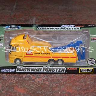 50 DIE CAST MERCEDES BENZ HIGHWAY TOW TRUCK WRECKER
