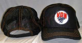 DUTCH BASEBALL CAP TRUCKER HAT ~BLACK DENIM w/ BLACK MESH~VON DUTCH
