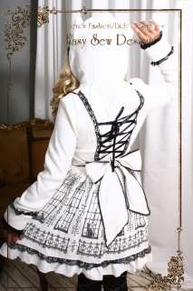 Sweet Gothic Lolita EGL Princess Hooded Trench Kitty Window Dress