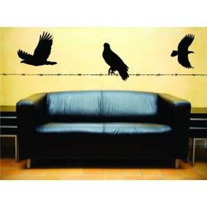 Removable Wall Decals   Birds on Wire and Flight