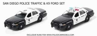 64 San Diego Police Ford Crown Victoria Set   Traffic & K9 Cars