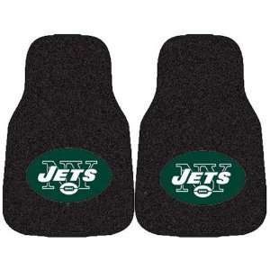 NFL Football New York Jets 2 Piece Carpet Car Mats