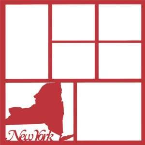 New York State 12 x 12 Overlay Laser Die Cut Sports
