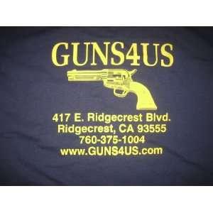 NEW! GUNS 4 US Pistol Navy Blue Front Pocket T Shirt Size Large, XL