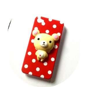 3d Red Polka Dot Kawaii Iphone 4 / 4s Case (New 2012) Electronics