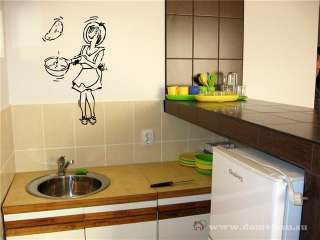 RESTAURANT CAFE DESIGN COOK CHEF WALL VINYL STICKER DECALS ART MURAL