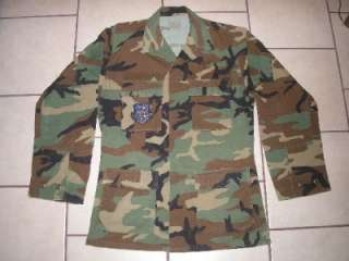 Military BDU Shirt Coat Camouflage Camo Cargo ARMY USAF Small Long