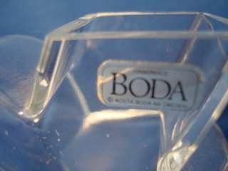 Crystal Heart Shaped Bud Vase Handmade Sweden 4 Clear Glass Swedish