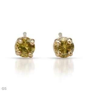 CleverSilvers 0.2.ctw Diamonds 14K Gold Earrings