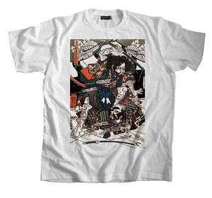 Samurai Tattoo Art T Shirt Hasebe Nobutsura