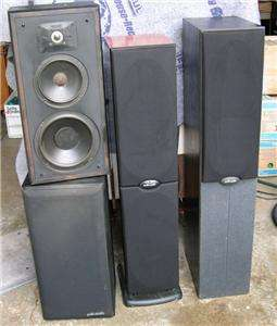 four) VINTAGE POLK AUDIO SPEAKERS RT1000I RT600I MONITOR SERIES
