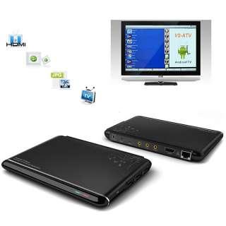 WiFi HDMI 1GHz Cortex A9 FULL HD 1080P Internet TV Box Black