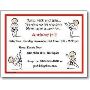 Pen At Hand Stick Figures   Invitations   Karate   Boy