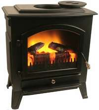 Electric Corner Fireplace In Fireplaces Stoves