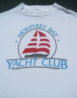 MONTEREY BAY YACHT CLUB vintage LS Small T SHIRT vtg