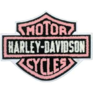 Harley Davidson Chenille Pink Patch (3xlarge) Automotive