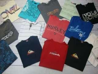QUIKSILVER VOLCOM HURLEY FOX Mens Surf Skate T Tee Shirt Lot Sz Medium