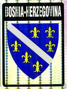 Bosnia and Herzegovina Historic Flag Stickers LOT NEW