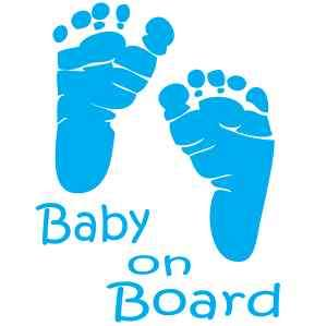 CUSTOM MADE   BABY ON BOARD (BOY) VINYL WINDOW DECAL
