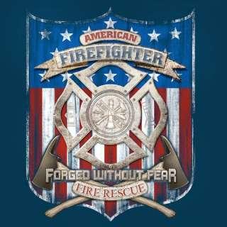 AMERICAN FIREFIGHTER FIRE DEPARTMENT FD T SHIRT NEW