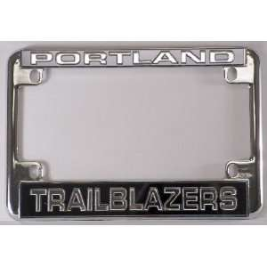 Portland Trailblazers NBA Chrome Motorcycle RV License Plate Frame