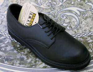 Black SWAT Oxford Shoes, Matte Finish, Military Police