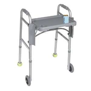 Drive Medical Drive Walker Tray With Cup Holders Gray