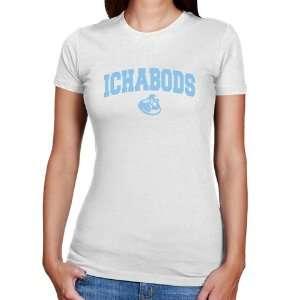 Washburn Ichabods Ladies White Logo Arch Slim Fit T shirt