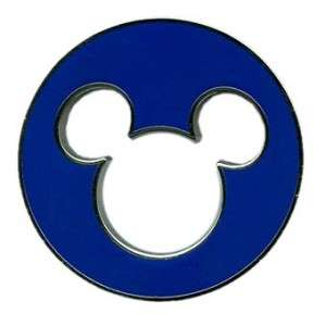 MICKEY MOUSE HEAD EARS ICON CUT OUT BLUE DISNEY PIN
