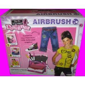 : 8pc Electronic Do It Yourself   Designer Airbrush Kit: Toys & Games