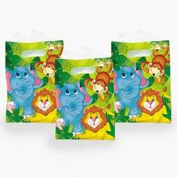 JUNGLE SAFARI ZOO ANIMAL Treat Loot Party Favors Bags