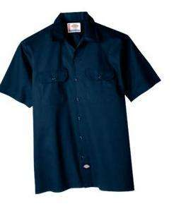 Dickies Short Sleeve Work Shirt 1574 NAVY NWT SZ S 6XL